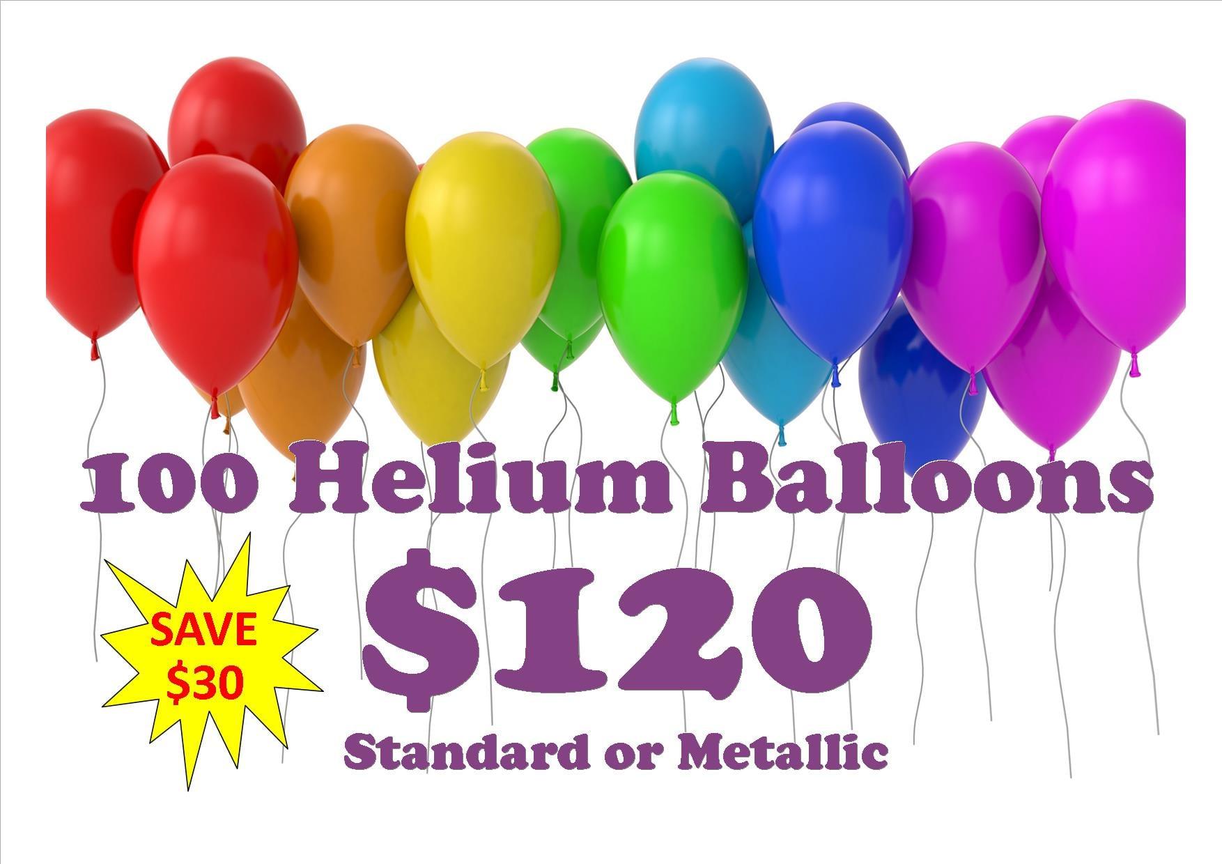 100 balloon $120 .2