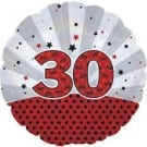 "Cti Foil 18"" Dazzeloon 30th Birthday Helium Balloon"