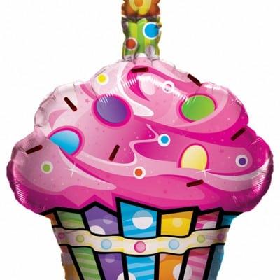 """Qt Foil Shape 27"""" Fun & Funky Cupcake"""