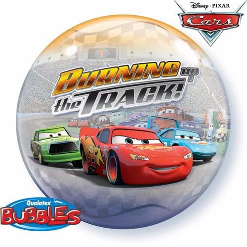 "Qt Bubble 22"" Cars Burning up the Track 1"
