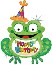 Hoppy Birthday Frog 39""