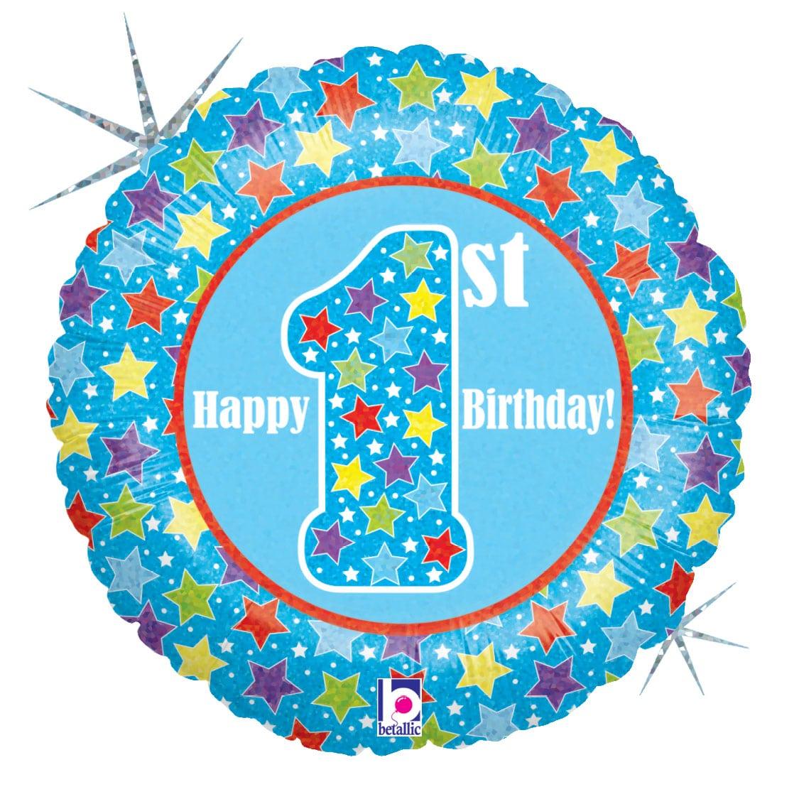Happy 1st Birthday Blue 1