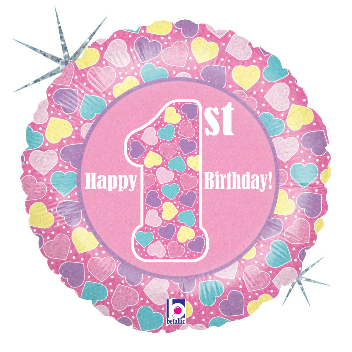 Happy 1st Birthday Pink 1
