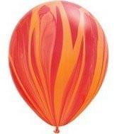"""11"""" Rainbow Super Agate Red Orange"""