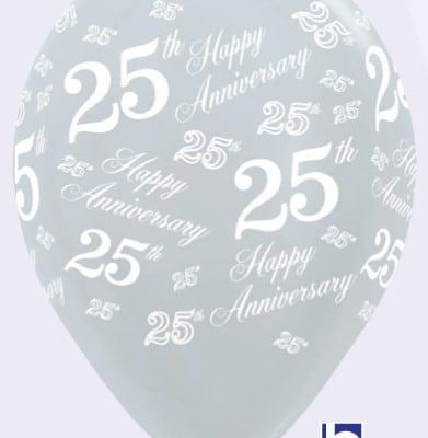 25th Wedding Anniverary Silver 1