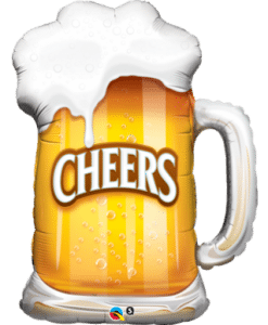 "QUALATEX FOIL SHAPE 35"" CHEERS! BEER MUG"