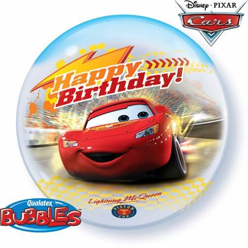"Qt Bubble 22"" Cars Birthday 1"