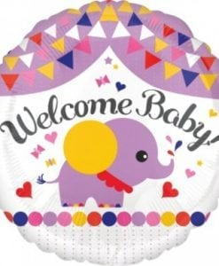 "ANAGRAM FOIL 18"" WELCOME BABY STREAMERS"