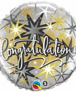 "QUALATEX FOIL 18"" CONGRATULATIONS ELEGANT"
