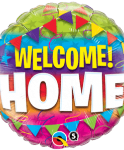 "QUALATEX FOIL 18"" WELCOME HOME PENNANTS"
