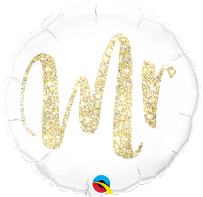 "QUALATEX FOIL 18"" MR. GLITTER GOLD"