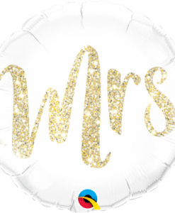 "QUALATEX FOIL 18"" MRS. GLITTER GOLD"