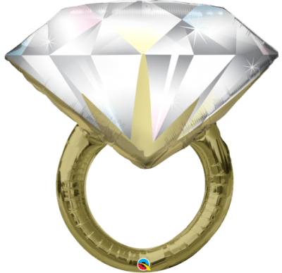 "QUALATEX FOIL SHAPE 37"" DIAMOND WEDDING RING"