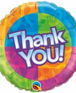 "QUALATEX FOIL 18"" THANK YOU STAR PATTERNS"