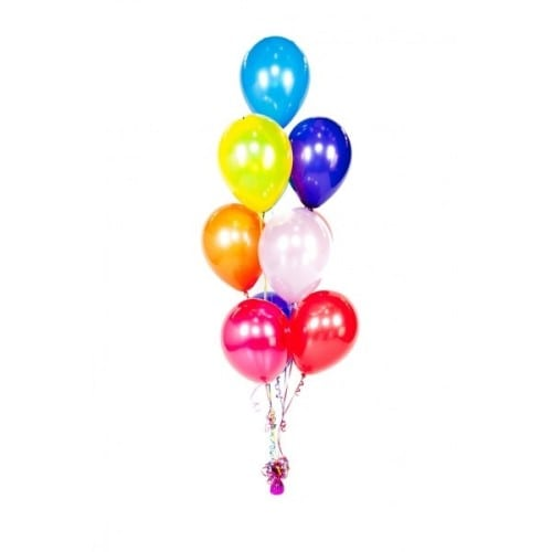 9 helium balloon floor centerpiece