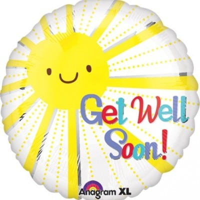 Foil 18inch Get Well Smiley Sunshine