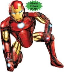 Foil AirWalker Iron Man Helium Balloon