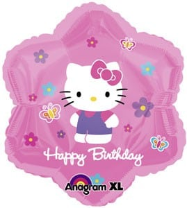 Foil Jr Shape 18inch Hello Kitty Birthday Flower
