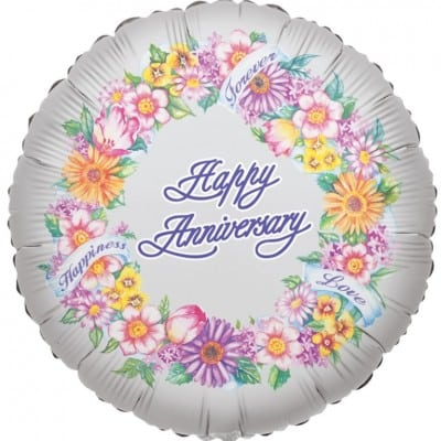 Kaleid Foil 18inch Anniversary Greeting