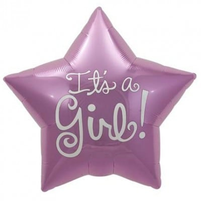 North Star Foil Shape 22inch Its A Girl Star