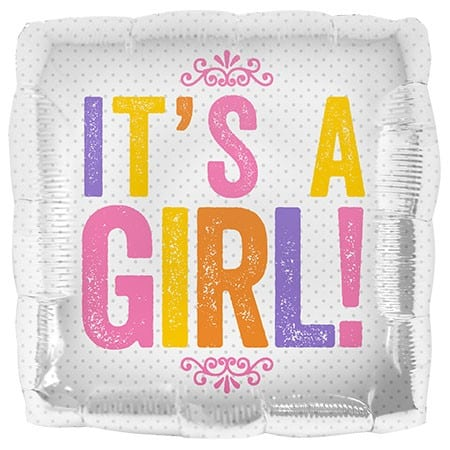 Northstar Foil 18inch Its a Girl Block Letters