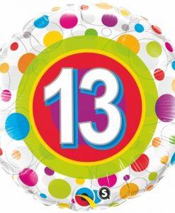 Qualatex Foil 18inch 13th Colorful Dots