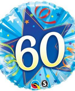 Qualatex Foil 18inch 60th Shining Star Bright Blue