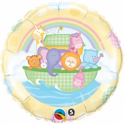 Qualatex Foil 18inch Babies Ark & Rainbow