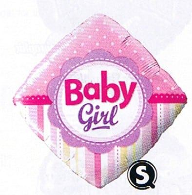 Qualatex Foil 18inch Baby Girls Dots And Stripe