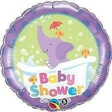 Qualatex Foil 18inch Baby Shower Elephant