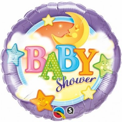 Qualatex Foil 18inch Baby Shower Moon & Stars