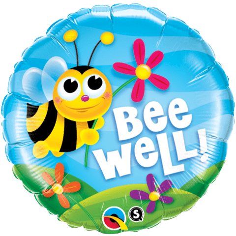 Qualatex Foil 18inch Bee Well! Flowers