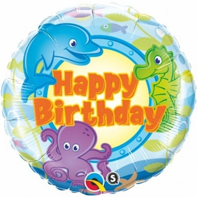 Qualatex Foil 18inch Birthday Fun Sea Creatures