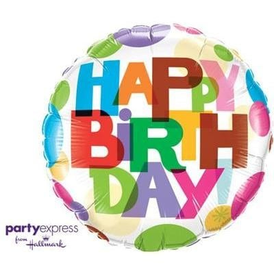 Qualatex Foil 18inch Birthday Its Your Day Dots