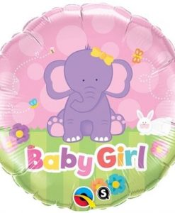 Qualatex Foil 18inch Elephant Baby Girl