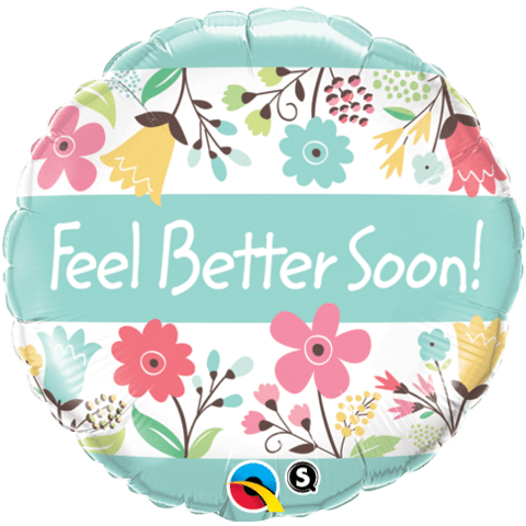 Qualatex Foil 18inch Feel Better Flowers