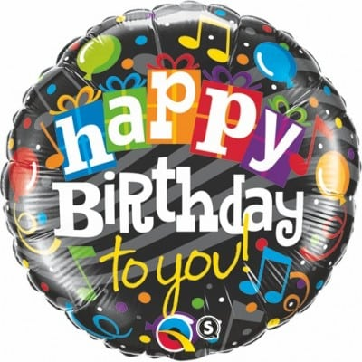 Qualatex Foil 18inch Happy Birthday to You