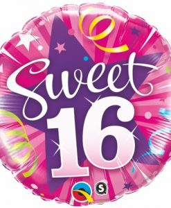 Qualatex Foil 18inch Sweet 16th Shining Star Hot Pink