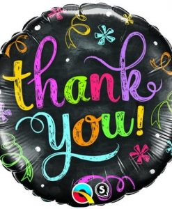 Qualatex Foil 18inch Thank You Chalkboard