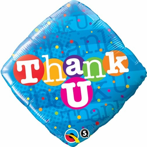 Qualatex Foil Diomand 18inch Thank You Colorful Dots
