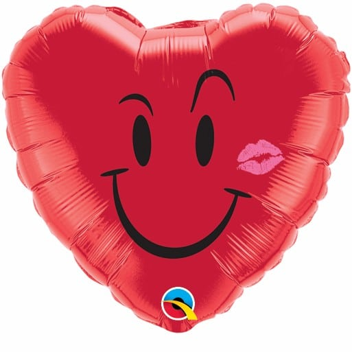 Qualatex Foil Heart 18inch Naughty Smile & A Kiss