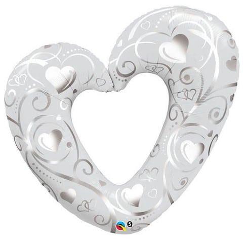 Qualatex Foil Shape 42inch Silver Heart