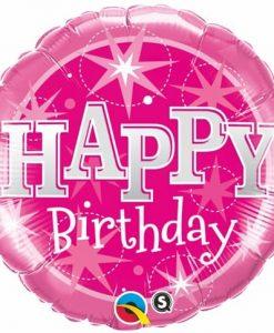 Qualatex Foil Sparkle 18inch Birthday Pink