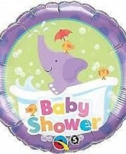 "QUALATEX FOIL 18"" BABY SHOWER ELEPHANT"