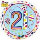 "Qualatex Foil 18"" (Rachel Ellen Design) 21 Birthday Polka Dots & Stripes Helium Balloon"